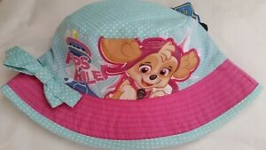 PAW-PATROL-PUPS-RULE-Licensed-Girl-bucket-hat-spot-NEW-head-size-up-to-51cm