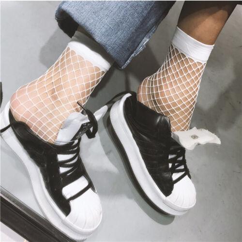 Frauen weiß Netzs Knöchel hohe Socken Dame Mesh-Spitze Fisch-Netz kurzeSocken ZP