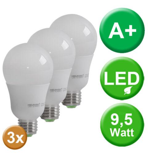 3x LED Leuchtmittel E27 Glüh Lampen 810 Lumen Beleuchtung 2800 Kelvin warmweiß