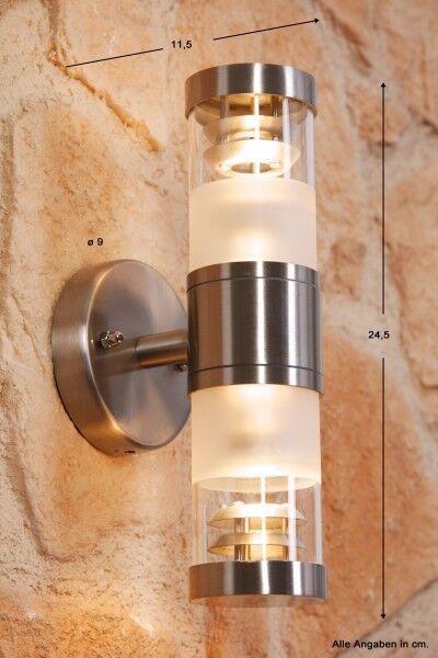 Wandlampe Wandleuchte Edelstahl Außenleuchte Glas Außenlampe Design Lampe NEU   Attraktiv Und Langlebig    New Products    Verschiedene Stile und Stile
