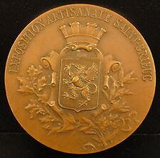 Médaille Exposition artisanale de Saint Brieuc Bretagne 1937 Blason armes medal