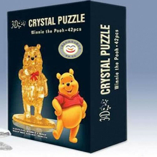 Three-Dimensional Orange Transparent 3D Winnie the Pooh Jigsaw Puzzle  (42PC)