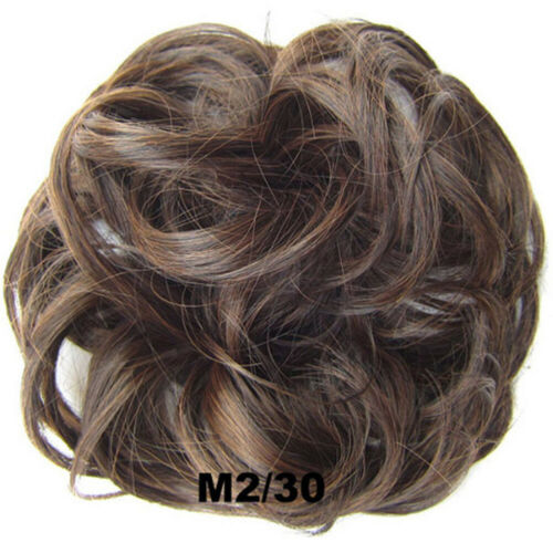 Bun Scrunchie Thick Hair Tie Band Curly Chignon Updo Hair Extension Hairpieces ^