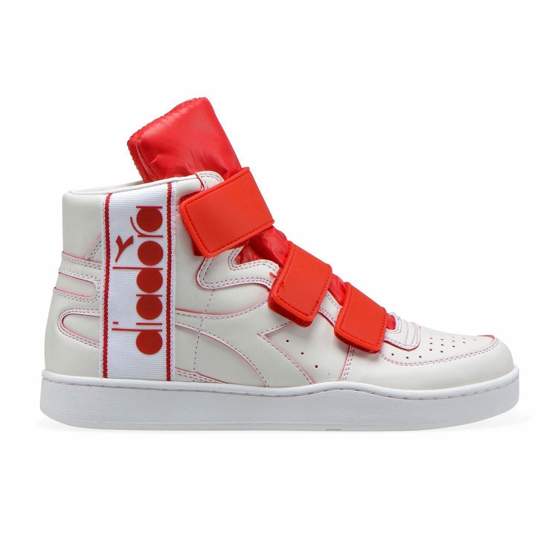 Diadora MI BASKET TAPE Sneakers Collo Alto Unisex Bianco Rosso Con strappi e log | Negozio  | Uomini/Donna Scarpa