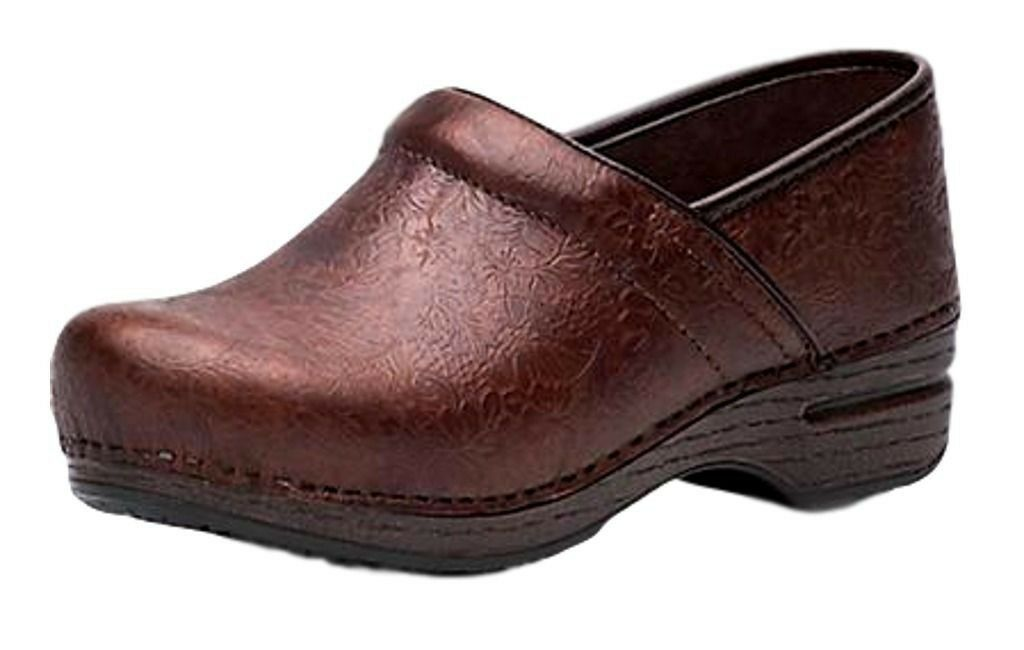 Dansko Shoes Donna Clogs Professional Floral 40 Brown 806780202