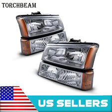 For 2003 2006 Chevrolet Avalanche Pickup Replacement Pair Led Headlight Assembly Fits More Than One Vehicle