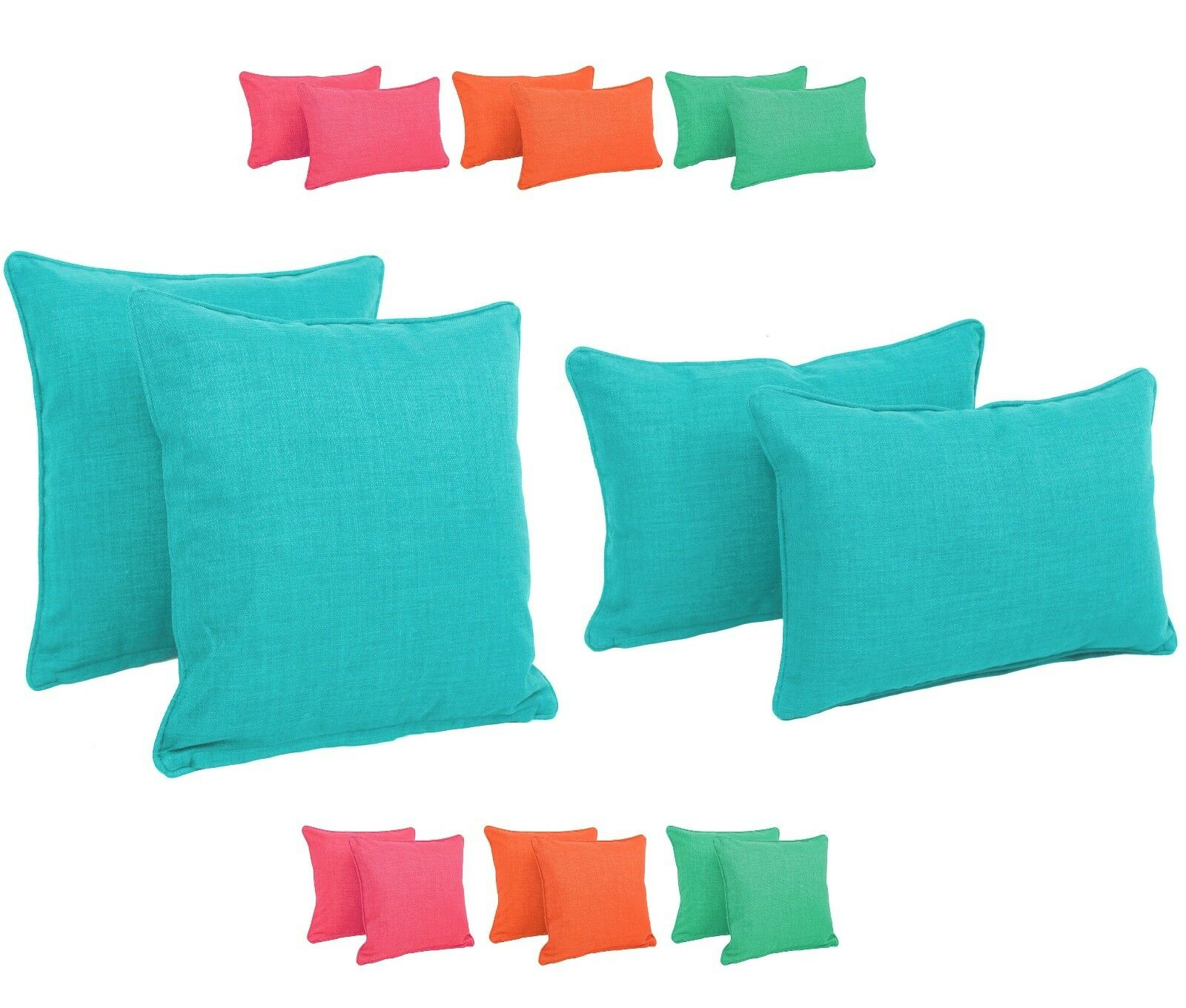 Outdoor Decorative Pillow Sets : Patio Throw Pillows Garden Decorative Cushions Outdoor Accent Pillow Cushion Set eBay