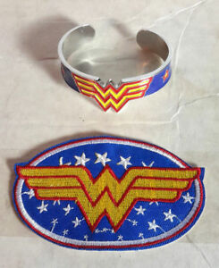 DC Comics Wonder Woman Logo Flying Embroidered Figure Patch