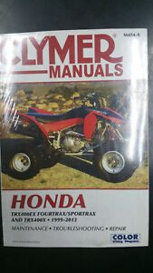 New-Clymer-Honda-Service-Manual-TRX400EX-FourTrax-Sportrax-TRX400-1999-2013-M454