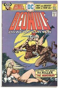 Beowulf-Dragon-Slayer-6-DC-1975-FN-VF-Ricardo-Villamonte-Minotaur-Skull