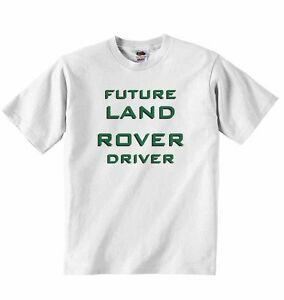 Future Land Rover Driver New Personalized Soft Cotton T Shirt Tees Boys Girls Ebay
