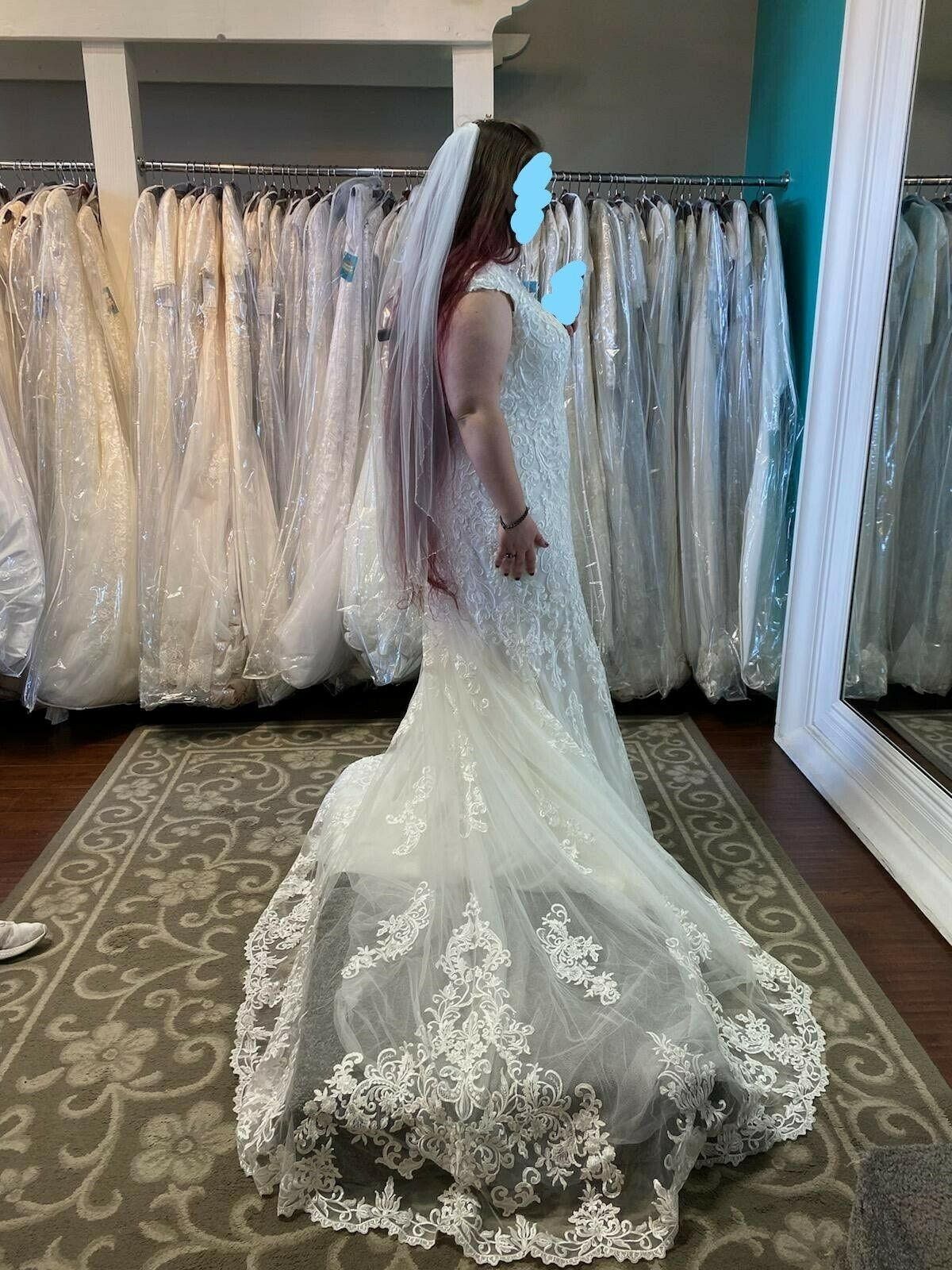 allure bridals wedding dress size 22 fits like 18