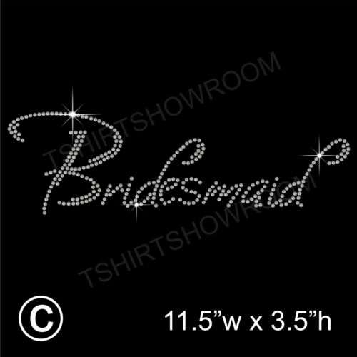 Bridesmaid Party Rhinestone//Diamante Transfer Hotfix Iron on with a Free Gift