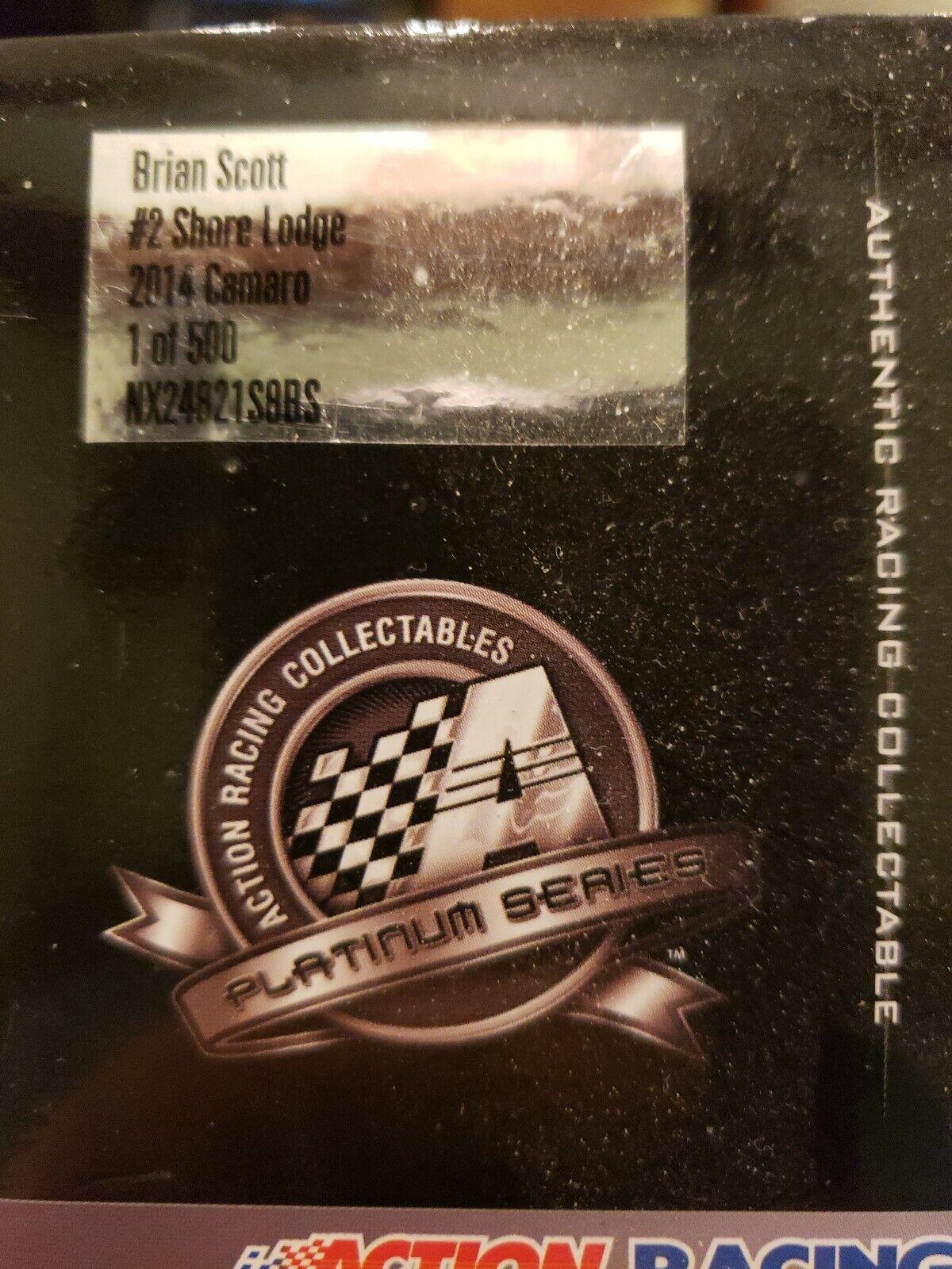 1 24 ACTION Brian Brian Brian Scott Shore Lodge 2014 Chevy Camaro 1 of 500 d1d452