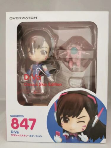 Anime Nendoroid 847 Overwatch D.VA Classic Skin Edition Action PVC Figure In Box