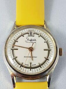 Sheffield calendar  watch vintage, collector watch , working !