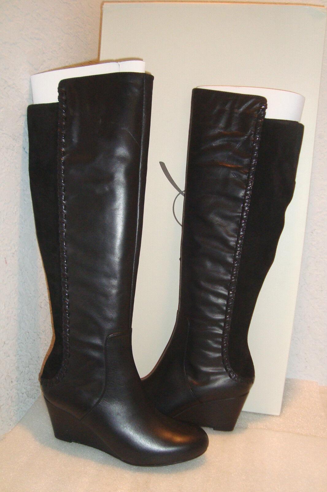 nessun minimo Rachel Roy donna NWB NWB NWB Rfrolettah nero Leather Wedge stivali scarpe 5.5 MED NEW  economico