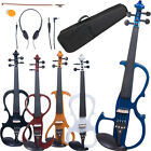 Cecilio Electric Violin Right or Left Handed Size 4/4 3/4 1/2 ~4 Styles 5 Colors