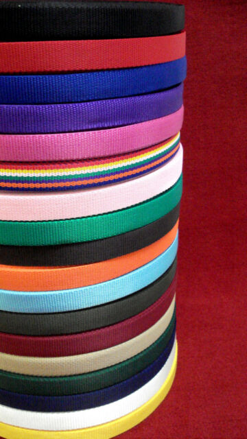 2m,5m,10m,25m,50 Metres Of 25mm Webbing In 18 Various Colours,Bags,Straps,Crafts