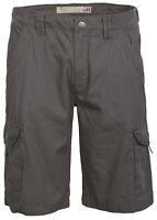 Mens Cotton Cargo Shorts Casual Summer Mid Length Combat Pockets New Grey Pants