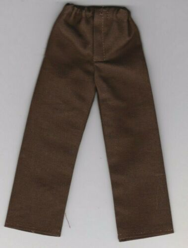 Homemade Doll Clothes-Medium Brown Solid Colored Pants fits Ken Doll P3