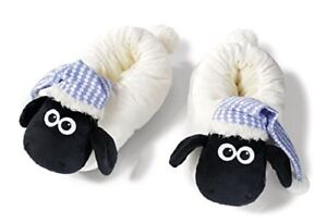 Nici-41475Shaun-the-Sheep-Slippers-with-Night-Cap-34-37-Color-WhiteBlack