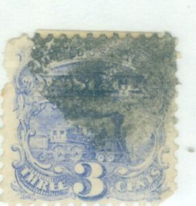 US-114 LOCOMOTIVE  3c STAMPS  issued 1869 cancelled