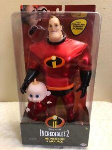 Disney-Pixar-INCREDIBLES-2-034-Mr-INCREDIBLE-amp-JACK-JACK-034-Set-of-2-Doll-NEW