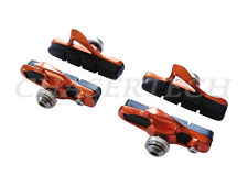 New Road Bicycle Bike Caliper Cartridge Brake Pads Shoes Orange 2 Pairs