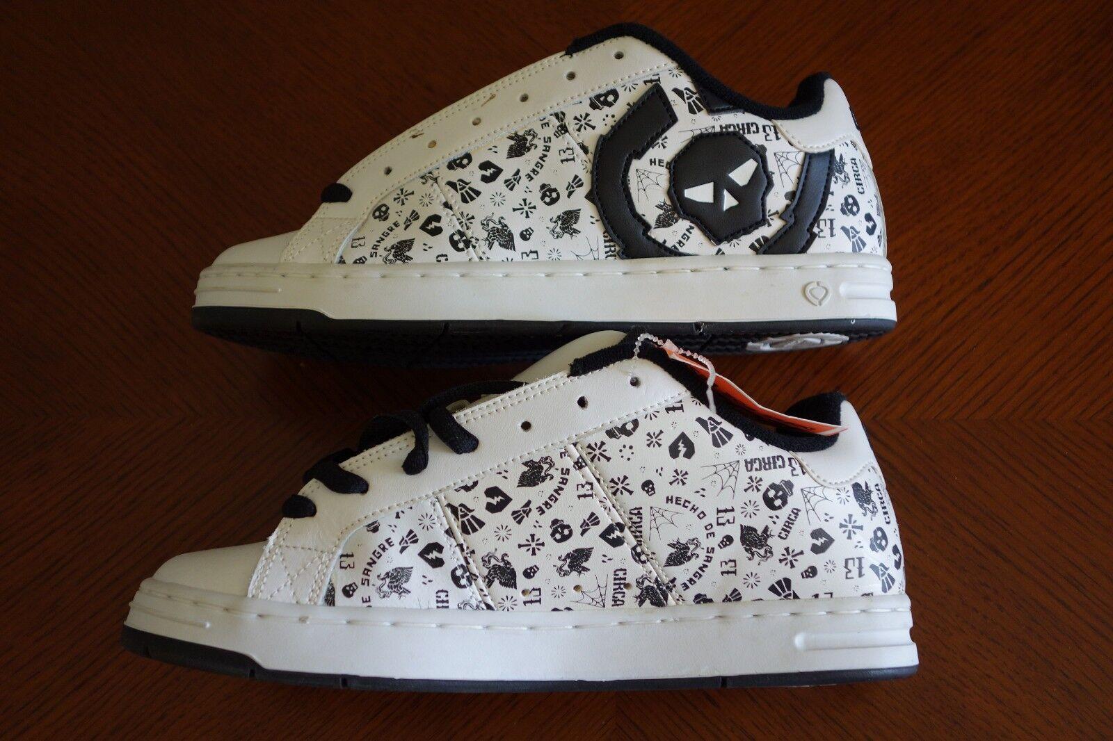new concept 77002 96ef8 CIRCA White   Black Black Black 211 Bold Skate Shoes   Men s Size 8   new