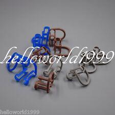 20 Pcs Bluegraybrown Disposable Cotton Roll Holder Clip Dental Clinic Isolator