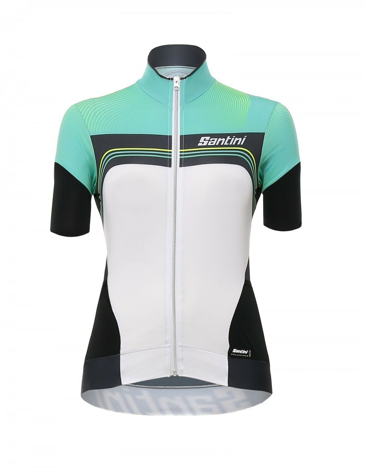 SHIRT SANTINI QUEEN OF THE MOUNTAINS WHITE GREEN size S   cheap wholesale