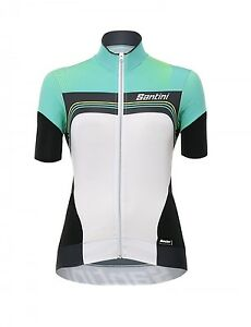 MAGLIA-SANTINI-QUEEN-OF-THE-MOUNTAINS-BIANCO-VERDE-tg-M