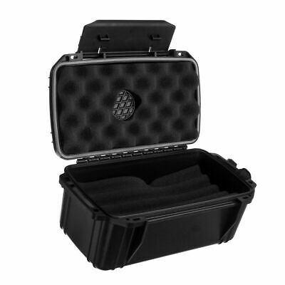 Fess F15 Black Travel Cigar Humidor Waterproof Holder Case for up to 10-15 Cigar