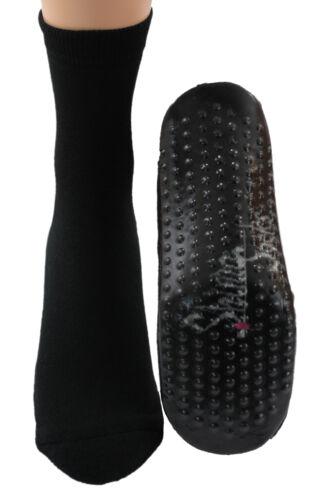 Sockenschuhe Homesocks Hüttenschuhe ABS schwarz B-Ware