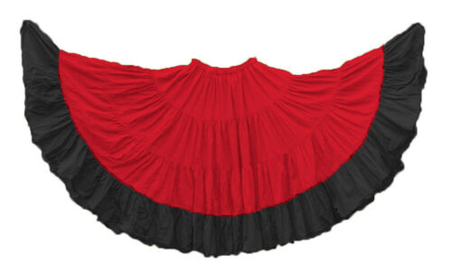 Details about  /Cotton Skirt 4 Tier 25 Yard Belly Dance Tribal Flamenco Ethnic Jupe GYPSY ATS