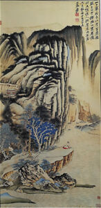 Excellent-Chinese-Hanging-Painting-amp-Scroll-Landscape-By-Zhang-Daqian-ZZ928B