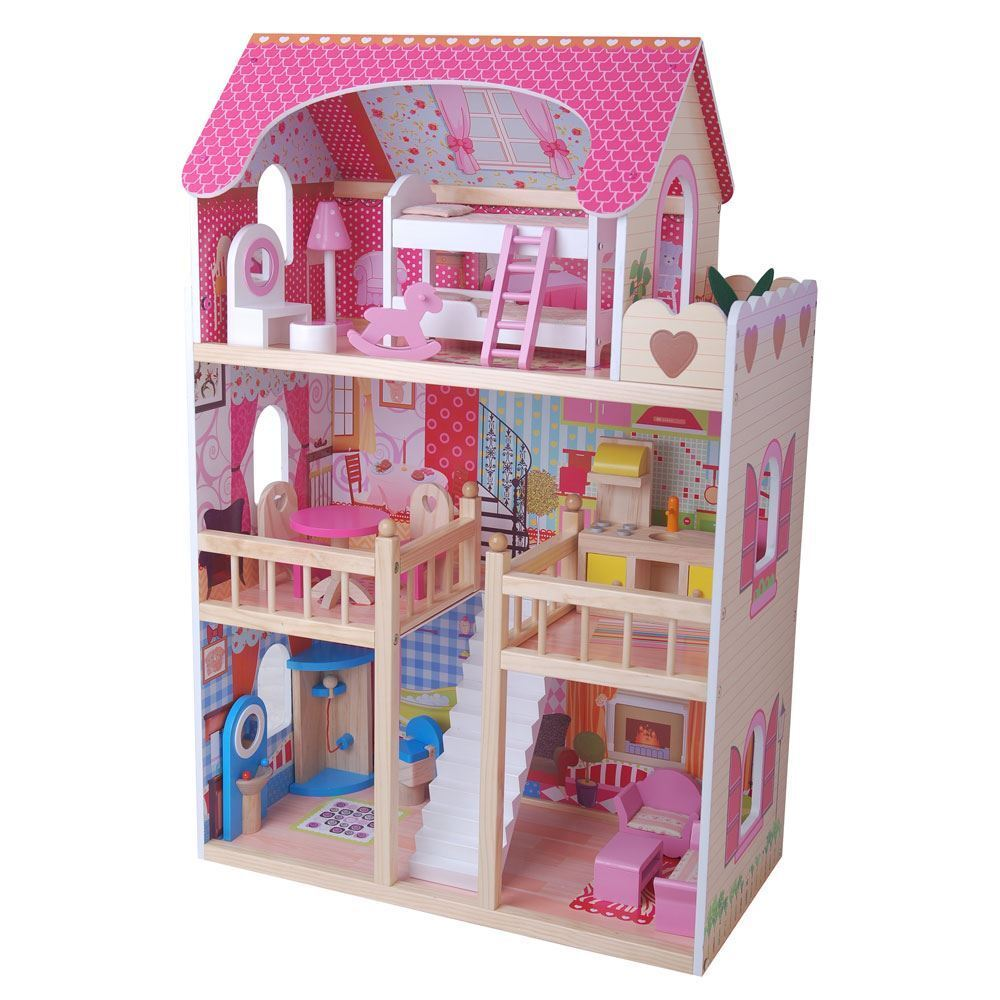 Wooden Dream Mansion Dolls House by Leomark New (FREE P+P)