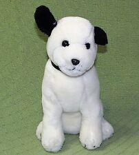 "Vintage RCA Nipper Dakin DOG 1992 Plush Stuffed 11"" Black White Puppy Character"