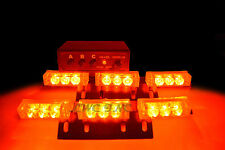 18 LED Emergency Vehicle Strobe Lights Deck Dash Grille Lightbars Red