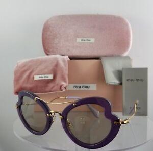 c301818dbc9 Brand New Authentic MIU MIU SMU 11R USV-5J2 Sunglasses Violet Gold ...