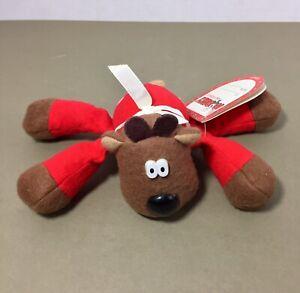 Randy-Reindeer-plush-beanie-Burger-King-Hallmark-promo-1987-w-tag-Christmas-vtg