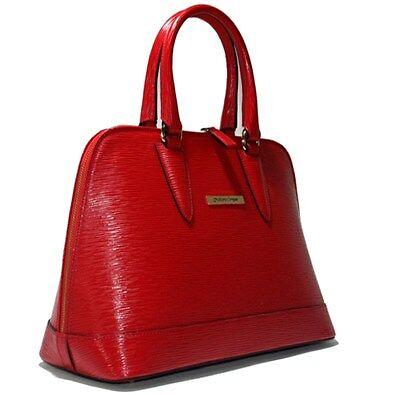 Cristiano Pompeo made in Italy handbag bag purse alma epi leather red Valentino