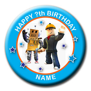 Details About Personalised Birthday Roblox Badge Magnet Mirror 58mm Or 77mm - roblox police badge id