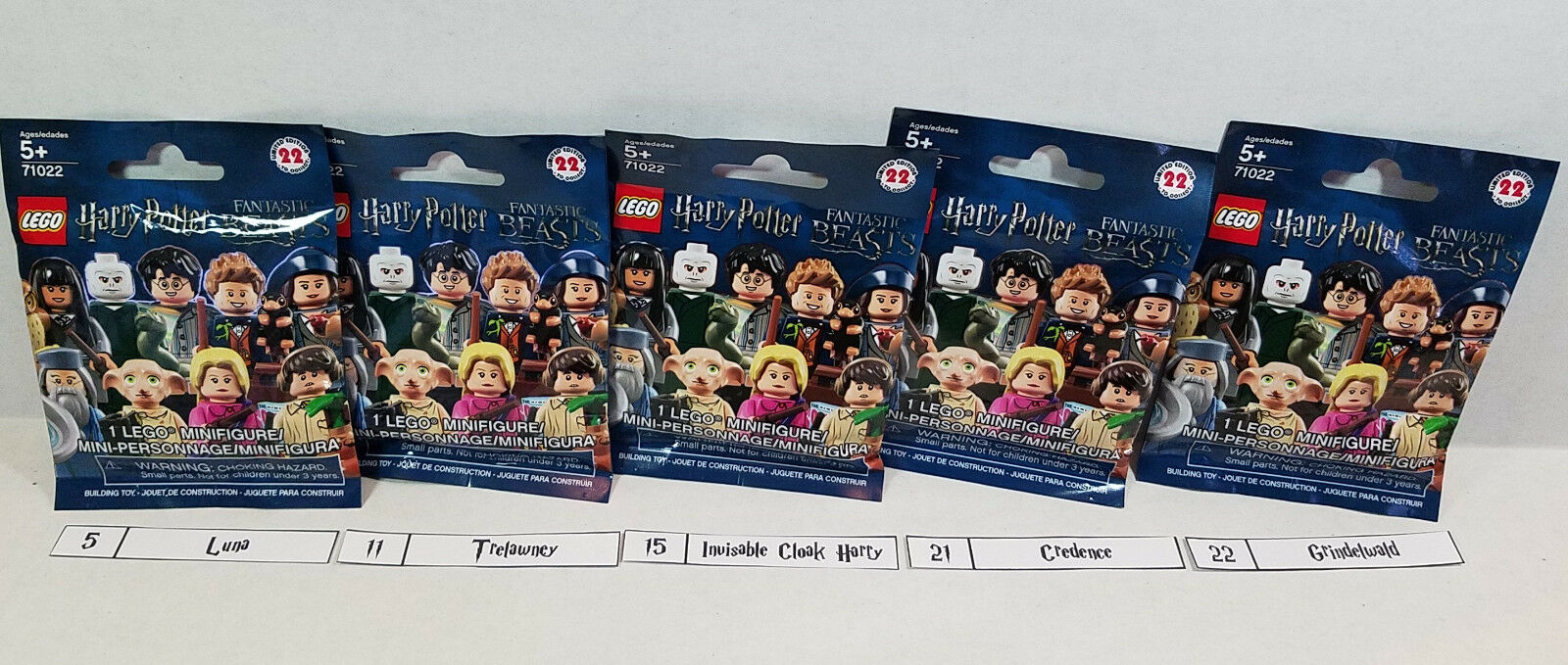 (Lot of 5) 5) 5) LEGO 71022 Harry Potter Rare Minifigs Grindelwald, Luna, +  Sealed   2ae05d