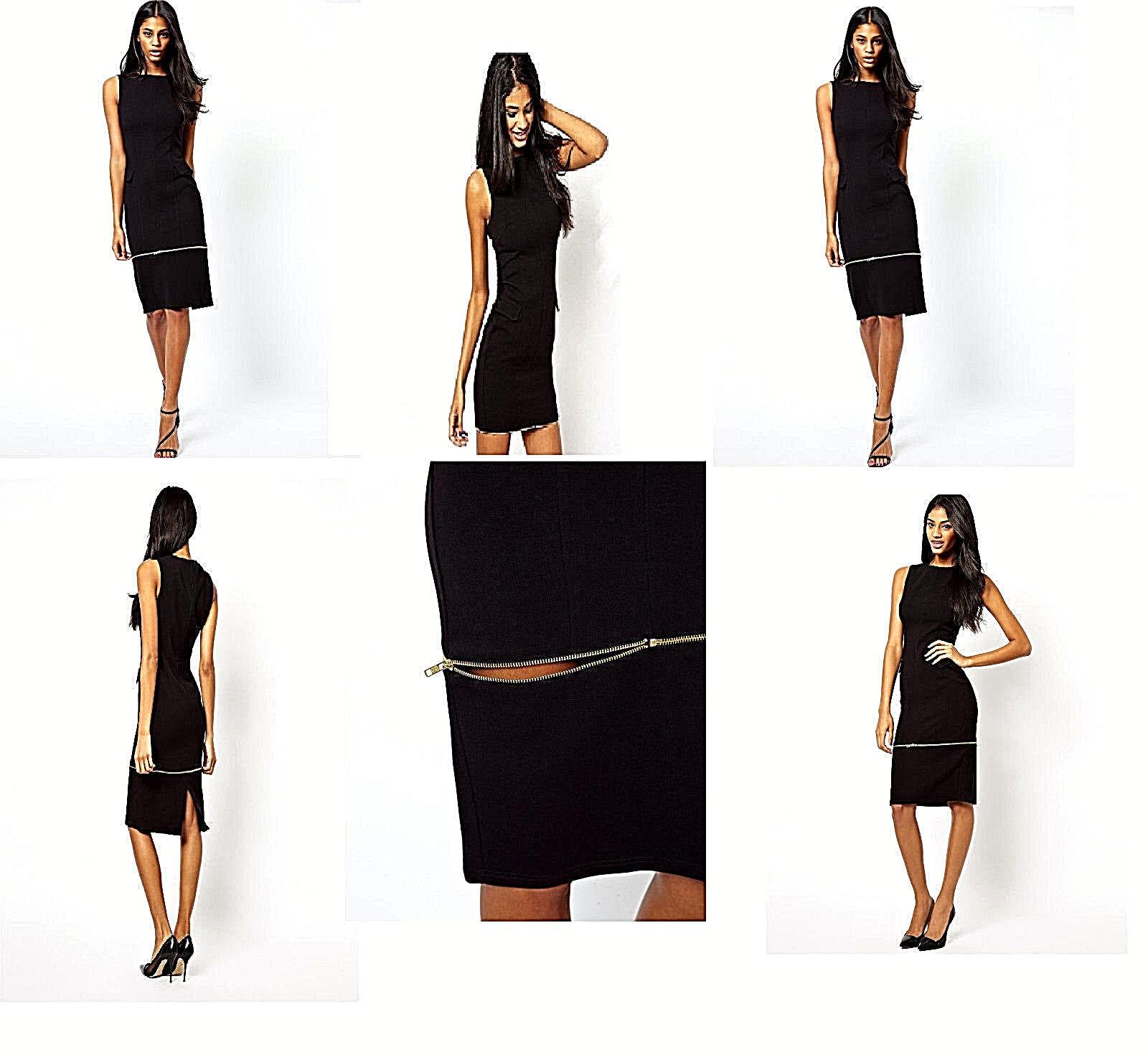 NWT  Designer Asos PREMIUM ConGrünible Ponte Pencil Dress European made