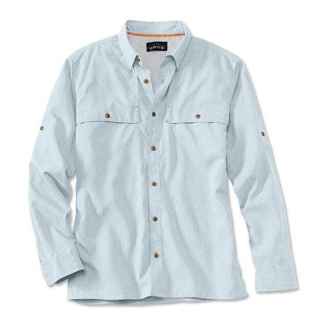 Orvis Men's Sandpoint Shirt Sky bluee Med FREE SHIPPING