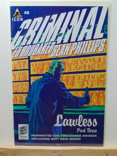 Criminal #8 Ed Brubaker Icon Comics CB8445