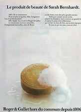 Publicité Advertising 1979  Roger & Gallet produit de beauté de Sarah Bernhardt