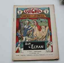 Ancien GUIGNOL CINEMA DE LA JEUNESSE N°269 26 novembre 1933 SUR L'ECRAN